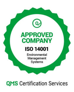 ISO 14001 approved company
